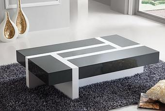 table de salon gris et blanc grande table basse blanche paperblog. Black Bedroom Furniture Sets. Home Design Ideas