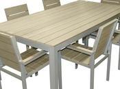 Table jardin aluminium cher salon
