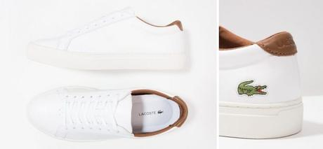 Lacoste - Sneakers basses blanches