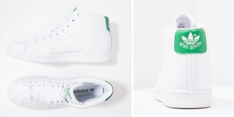 Adidas Stan Smith Montantes - sneakers blanches en cuir pour Hommes