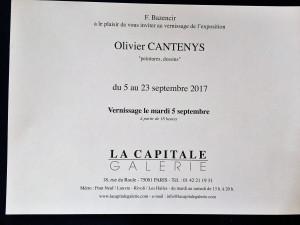 Galerie La Capitale   exposition  Olivier CANTENYS « peintures dessins » 5/23 Septembre 2017