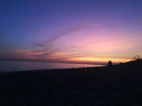 sunset plage bretagne