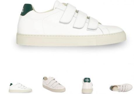 SNEAKERS BASSES BLANCHES ET VERTES