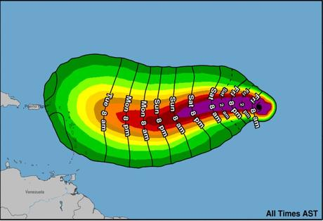 Irma la menace source NATIONAL HURRICANE CENTER 5 am 01 09 2017