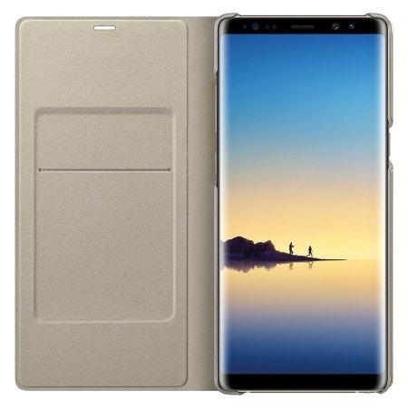 LED View Cover Officielle Samsung Galaxy Note 8 – Or