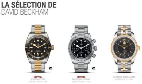 David Beckham, ambassadeur des montres Tudor