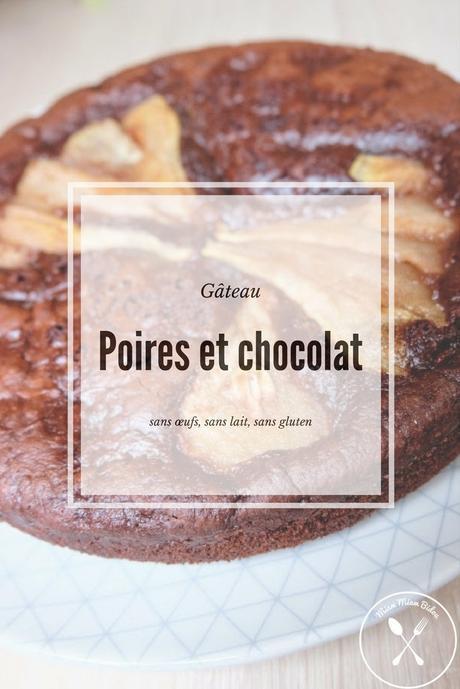 Moelleux au chocolat et aux poires