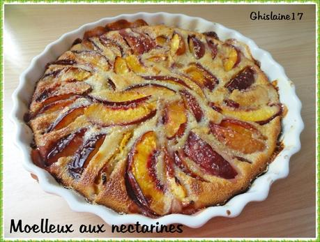 Moelleux aux nectarines