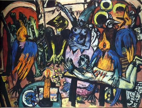 max beckmann, hölle der vögel, Birds' Hell, painting, nazi, expressionnisme, auction, christie