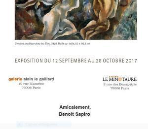 Galerie Le Minotaure  Galerie Alain Le Gaillard   » L'Oeil de Pascin  » 12 Septembre au 28 Octobre 2017