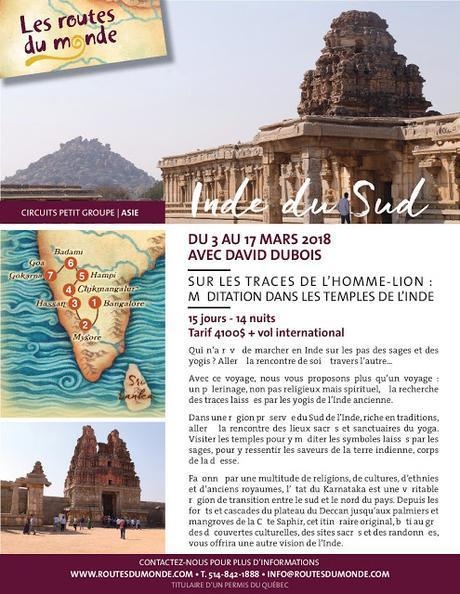 Voyage en Inde du Sud avec David Dubois - Mars 2018