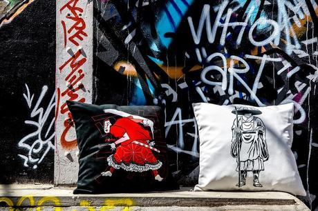 ARTPILO s'associe à Street Art Up pour une collection de coussins