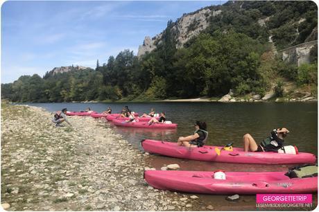 Le #GeorgetteTrip est passée en kayak sous le Pont d'Arc !