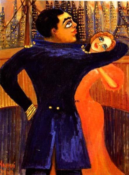 Nahui Olin - Nahui et Agostino dansant à la proue du navire Habana à New-York, sd