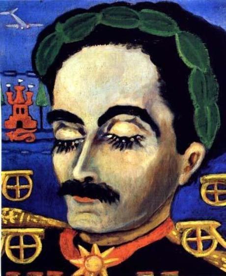 Nahui Olin - Apothéose du Général Mondragon, père de l'artiste, sd