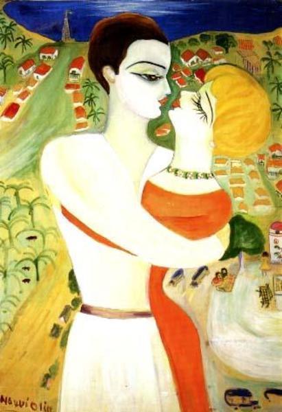 Nahui Olin - Nahui et Lozano à Acapulco - Le baiser, sd