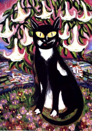 Nahui Olin - Gato en el jardin Florido, sd