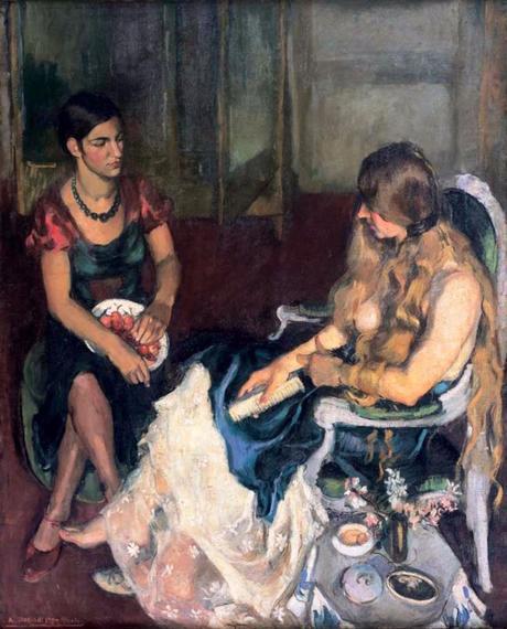 Jeunes femmes, 1932. A gauche, Indira, la soeur de l'artiste. A droite, Denise Proutaux, une amie