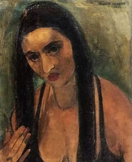 Autoportrait aux cheveux longs, 1930