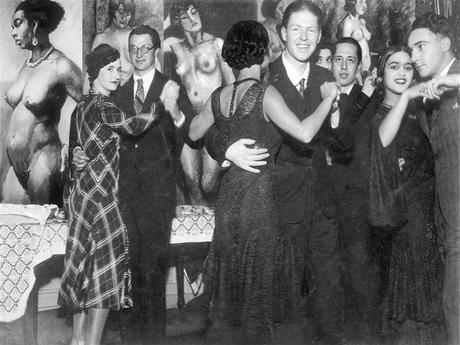 Amrita-Sher-Gil -  Bal  à l'école des Beaux-Arts  Marie Louise, sa maîtresse, en partie visible