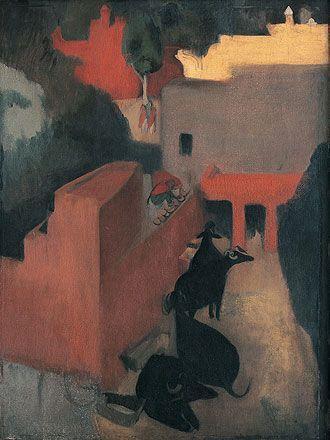 Sans titre, tableau inachevé sur lequel travaillait l'artiste au moment de sa mort, 1941