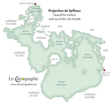 Quand les oceans sont au centre du monde, carte de Spilhaus