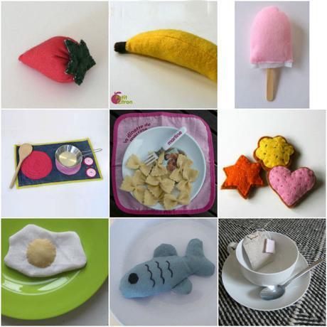 Plus de 10 DIY d'aliments en feutrine