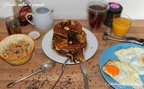 Pancakes moelleux et gourmands pour petit Brunch entre amis