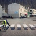 SECURITE : Le passage piéton 3D visible en Islande