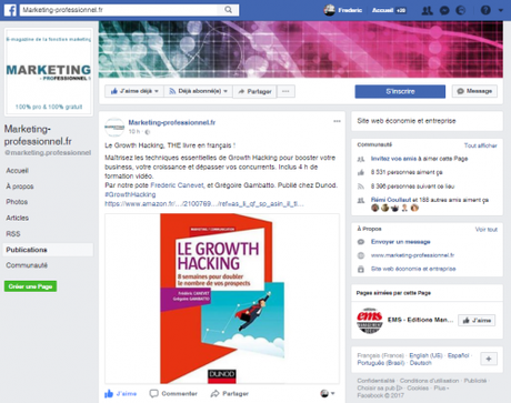"Mon livre ""Le Growth Hacking"" dans le Top 5 des livres Marketing en France !"