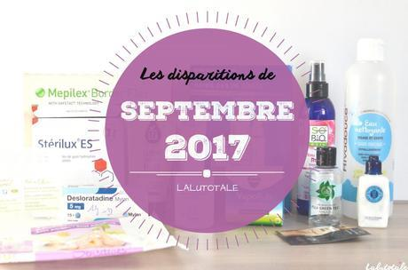 ✞ Les disparitions de Septembre 2017 ✞