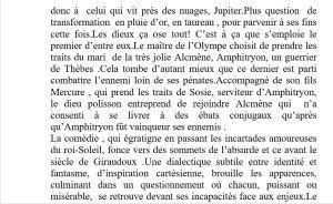 Regard vers le théâtre de Pierre-Marc LEVERGEOIS  « AMPHITRYON »  Théâtre de Poche – jusqu'au 31 Décembre 2017