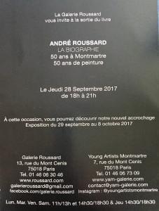 Galerie ROUSSARD    » ANDRE ROUSSARD la biographie  » 50 ans à Montmartre 50 ans de peinture