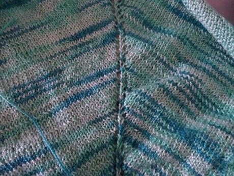 Châle coton dégradé de verts