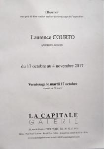 Galerie LA CAPITALE  exposition Laurence COURTO  »  peintures et dessins 17 Octobre au 4 Novembre 2017