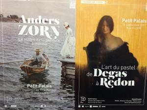 Musée du Petit Palais  expositions Anders ZORN « Le maître de la peinture Suédoise » – » L'art du pastel de DEGAS à REDON