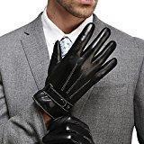 Harrms hommes hiver gants en cuir mode classique protection des mains