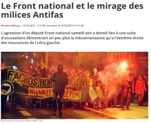 non, @ludovicpajot ne s'est pas fait agresser par des #antifa #CQFD