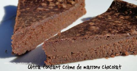 Fondant à la crème de marrons et chocolat thermomix ou pas