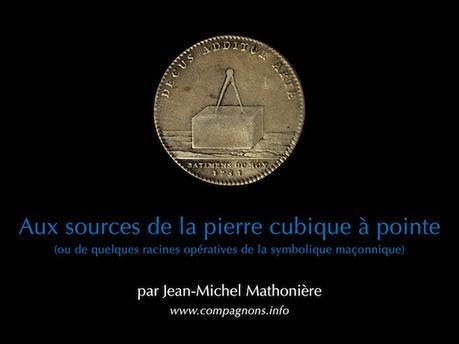 Brève : conférence Aux sources de la pierre cubique à pointe, samedi 14 octobre à Lyon