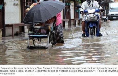 Menaces d'inondations sur Ayutthaya, Bangkok et des provinces avoisinantes