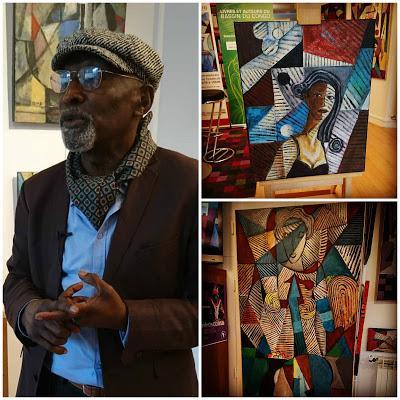 Vernissage de l'exposition du peintre Kassa Mfoubou à la librairie Galerie Congo