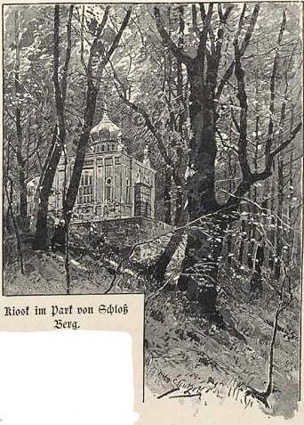 Le kiosque du château de Berg / Kiosk im Park von Schloß Berg