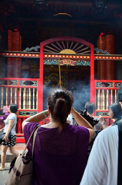 A l'arrière du temple, les fidèles peuvent également prier Matsu et ses principaux acolytes