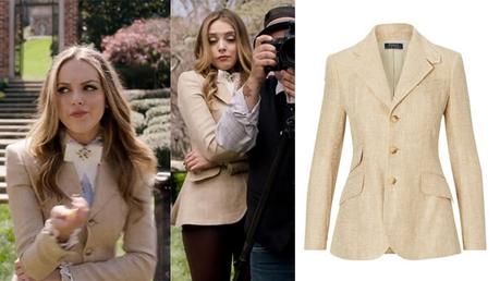 DYNASTY : Hacking Blazer worn by Fallon Carrington in s1ep01