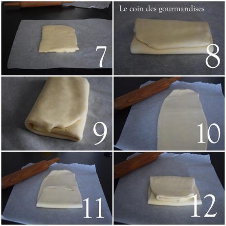 La pâte feuilletée à 3 tours