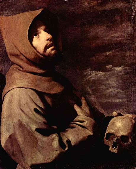 francisco zurbaran, saint francois, extase, painting