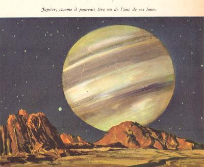 Jupiter,comme il pourrait être vu de l'une de ses lunes