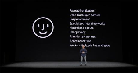 face id apple keynote 1024x548 - La reconnaissance faciale Face ID de l'iPhone X sur l'iPad Pro de 2018 ?