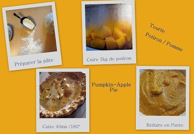 Tourte Potiron / Pommes